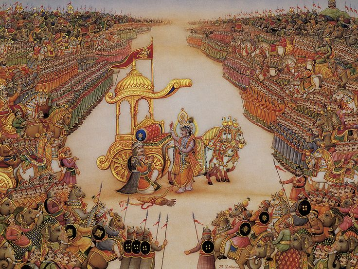 The Srimad Bhagavad Gita is a dialogue between Lord Krishna and Arjuna, narrated in the Bhishma Parva of the Mahabharata. It comprises eighteen discourses of a total of 701 Sanskrit verses. For Complete version of Srimad Bhagavad Gita visit : http://www.gyanmarg.com/book/shrimad-bhagwad-gita/