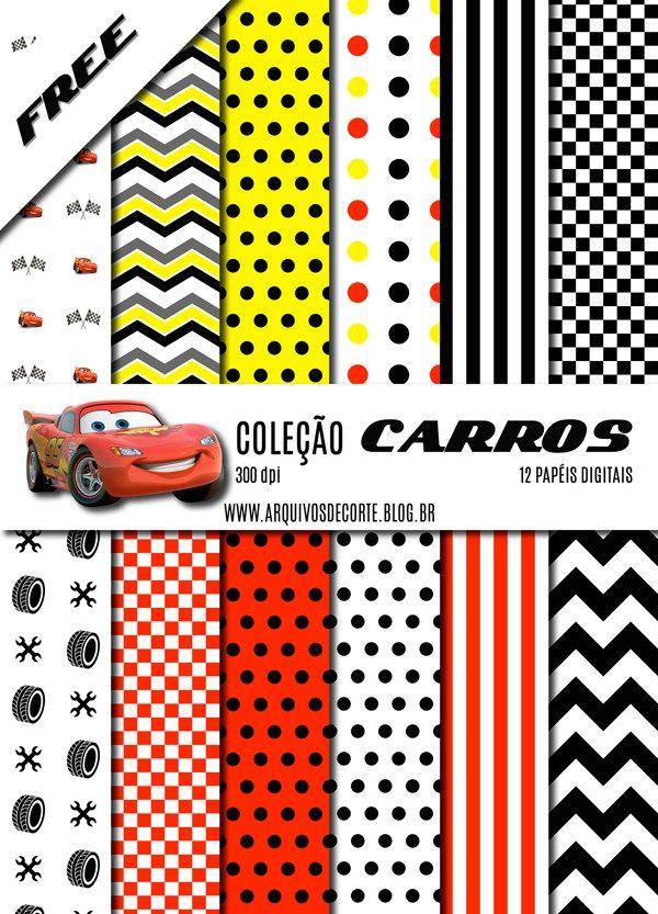 74ed5c988f1  GRÁTIS  Kit de papel digital Carros - Arquivos de corte Silhouette - Digital  papel. Free dowmload