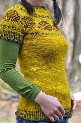 Hedgehog Paper Doll Sweater.