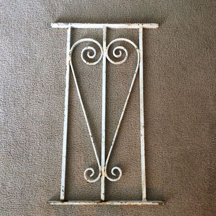 Antique Victorian Iron Window Panel Fence Architectural Salvage