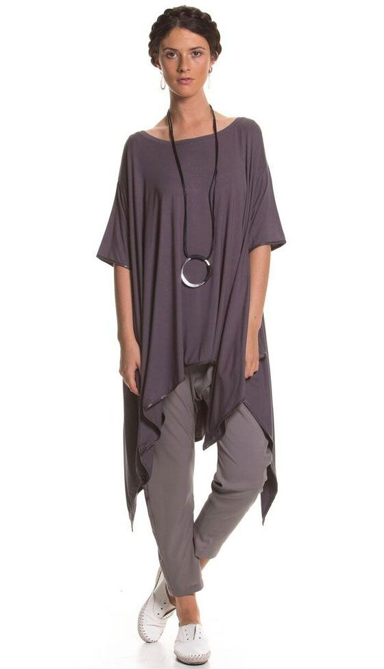 Brave And True Outback Top - Charcoal