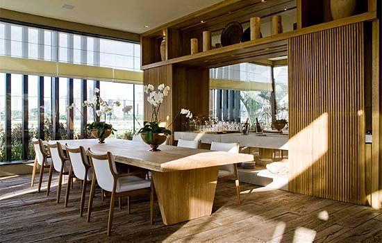 Refúgio do velejador - Débora Aguiar - Casa cor - #dinnerroom #wood