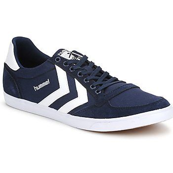 Klassischer #sneaker in #dunkelblau und #weiss von Hummel. #damenschuhe #retrolook
