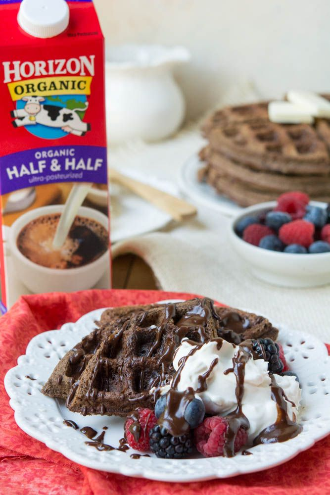 Low Carb Chocolate Coconut Flour Waffles