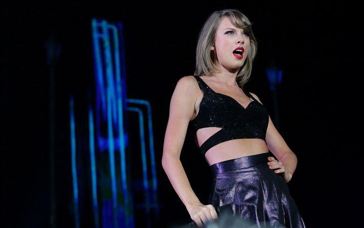 Descargar fondos de pantalla Taylor Swift, 4k, el concierto, la cantante estadounidense, superestrellas, mujer hermosa, rubia