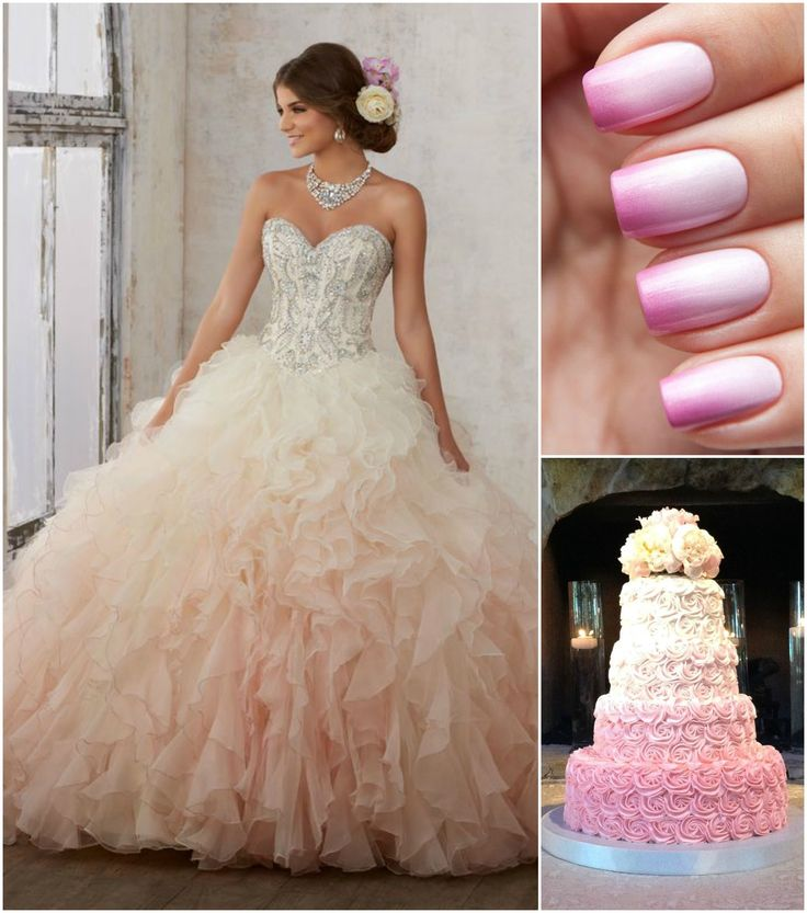Nowadays, everyone is talking about ombre-colored quinceanera gowns, which can have a subtle or dramatic effect depending on the look you're going for.