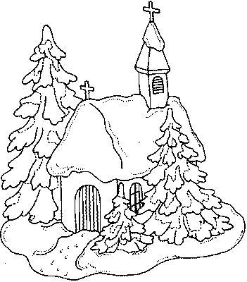 Krajobraz z kościołem