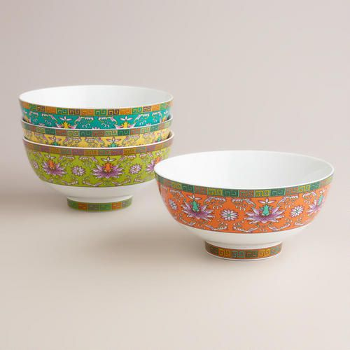 One of my favorite discoveries at WorldMarket.com: Shanghai Noodle Bowls, Set of 4
