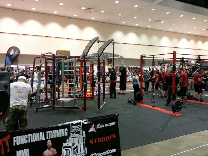 #thefitexpo 2013 functional training equipment. Impressive setup... #fitness #crossfit