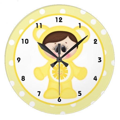 Sunshine Boy Care A Lot Kids Room Wall Clock D6 Children