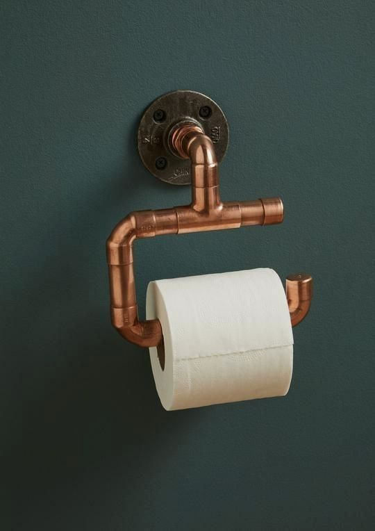 Our On Trend Copper Pipe Amp Iron Toilet Roll Holder Is The