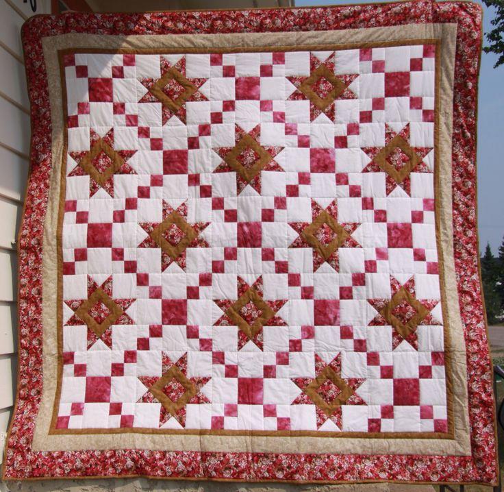 Stars amp irish chain quilt quilting pinterest