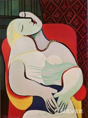 꿈 (The dream) / 파블로 피카소 / 1932년 / 유화 / 캔버스에 유채 / 130 x 97 cm / 개인