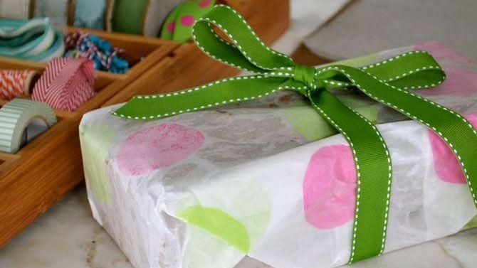 Papier d'emballage maison - Idée d'emballage cadeau