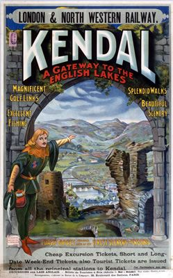 Kendal #Vintage #Rail #Railway #Train #Poster #Posters #Prints #Print #Art #UK #Britain #British #Old #Travel #Cumbria www.vintagerailposters.co.uk