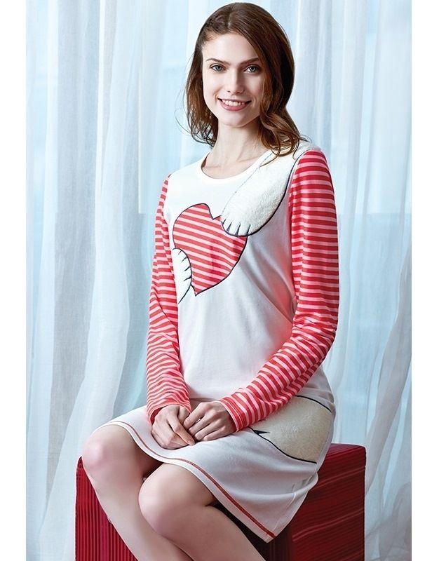 Eros ESK 9342 Uzun Kollu Gecelik #markhacom #ÇizgiliKalpliGecelik #Kalpli #Kalp #YeniYılHediyesi #YeniYılPijamaTakım #YılBaşı #YılBaşıPijamaTakım #YeniYıl  #YeniYılHediyesi #NewYears #Yılbaşı #BayanPijama #BayanGiyim #YeniSezon #Moda #Fashion #Kırmızı #Ekru #KışTemalı