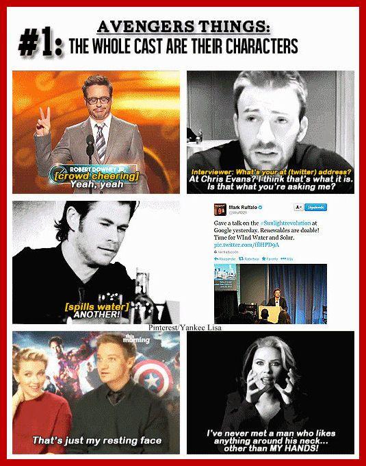 Iron Man - RDJ - Chris Evans - Captain America - Chris Hemsworth - Thor - Mark Ruffalo - Hulk - Jeremy Renner - Hawkeye - Scarlett Johansson - Black Widow - Avengers Cast