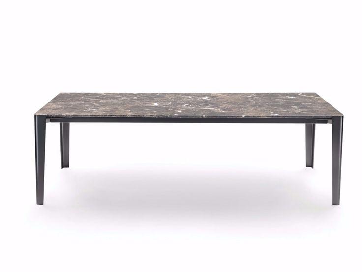 Mesa rectangular de mármol ISEO 2016 by FLEXFORM diseño Carlo Colombo