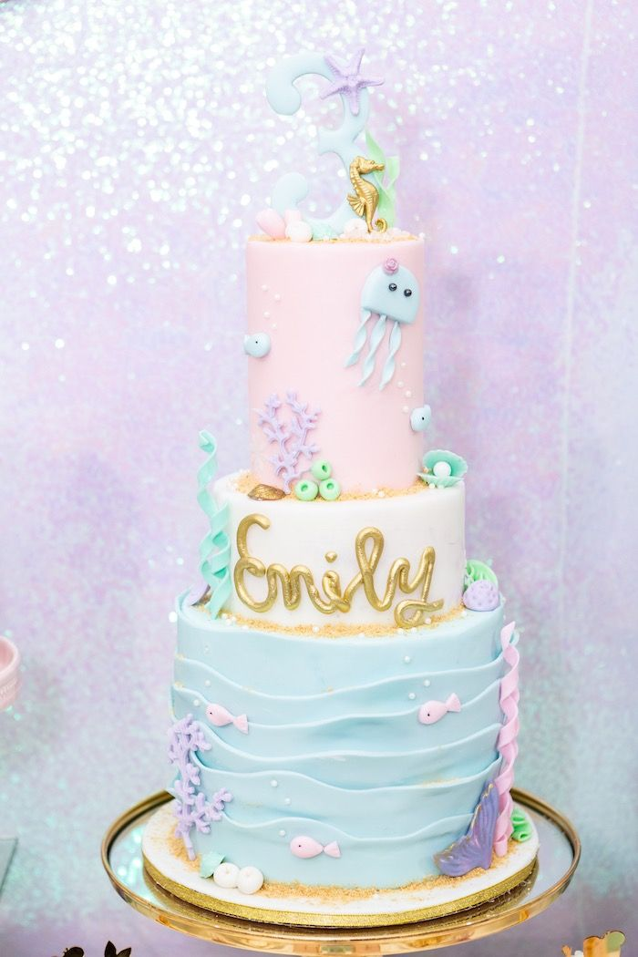 Remarkable Sparkles Under The Sea Party Mermaid Birthday Cakes Mermaid Funny Birthday Cards Online Eattedamsfinfo