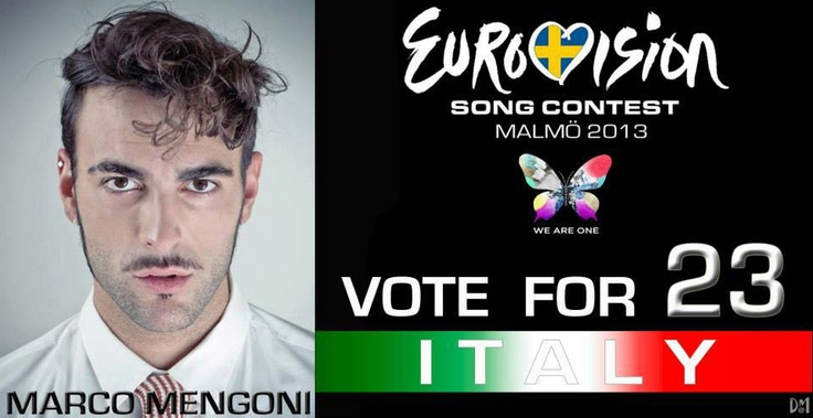 Support Marco Mengoni at the Grand Final of Eurovision Song Contest Malmo 2013! #ESCita #eurovision