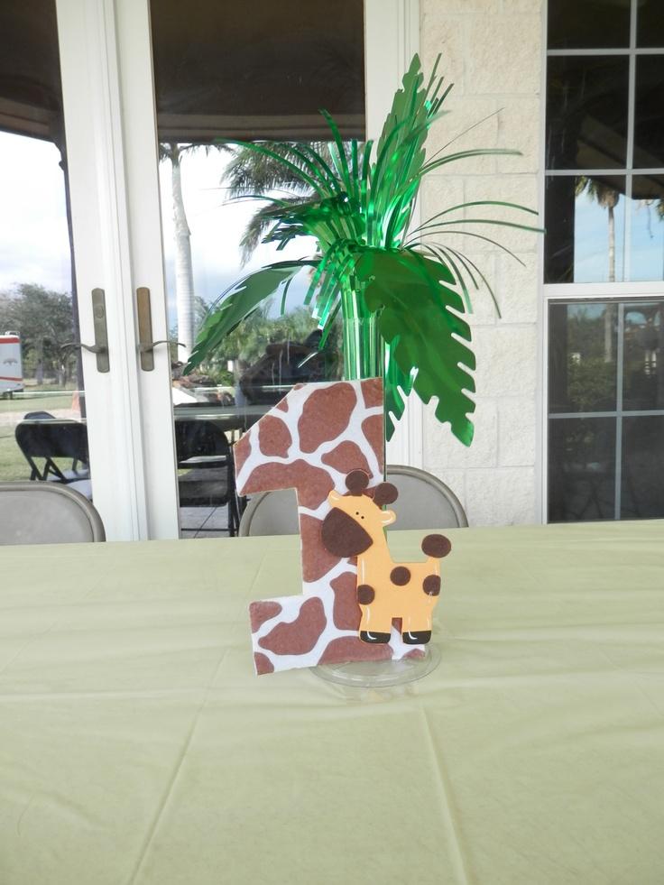 First Birthday Giraffe Decoration/Centerpiece. $6.00, via Etsy.