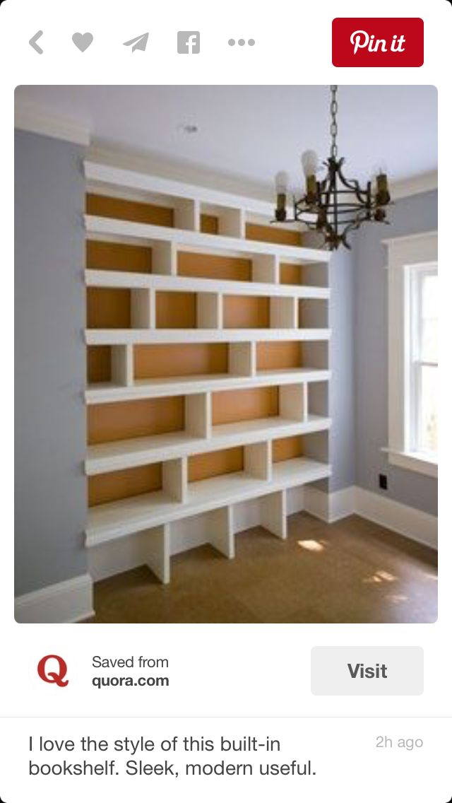 25 best ideas about bedroom bookcase on pinterest front rooms bookcase bed and bookshelves - Contemporary built in bookshelves ...
