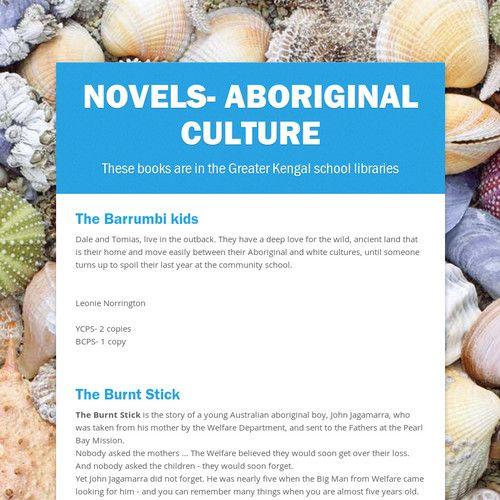 Novels- Aboriginal culture