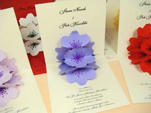 kartka okolicznościowa 3D z kwiatami