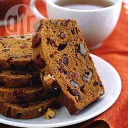 Cranberry-walnut pumpkin bread @ allrecipes.com.au