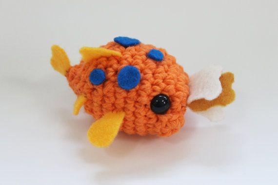 Pudge amigurumi from lilo and stitch for Pudge the fish