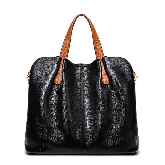 2019 Fashion Genuine Leather Women Bag Women S Handbag Black Leather Handbags Women Women Handbags Genuine Leather Bags