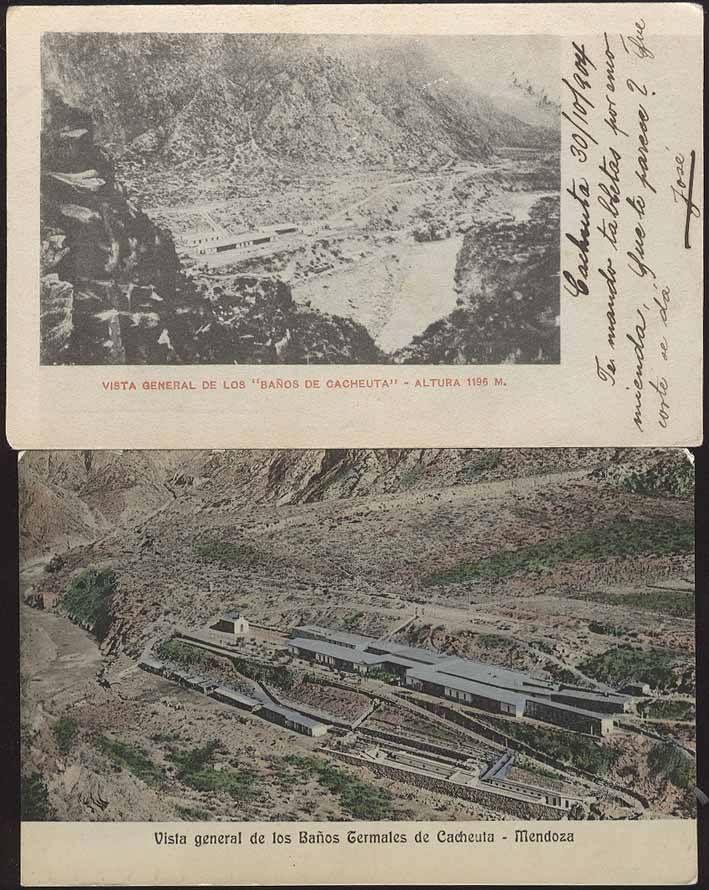 Baños termales, Cacheuta, Mendoza Antigua