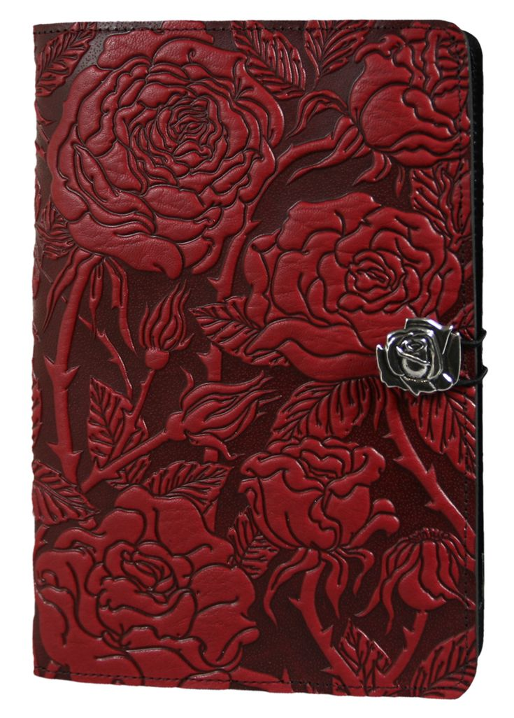 Leather iPad Mini Cover Case | Wild Rose in Red