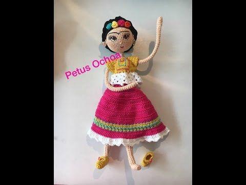 Como tejer muñeca Frida amigurumi By Petus Ochoa QUINTA PARTE - YouTube