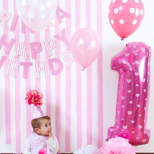 1歳のお誕生日パーティーにおしゃれな飾り付け|1歳の誕生日・ファーストバースデーのギフトに最適、おむつケーキ販売のCandyChouChou