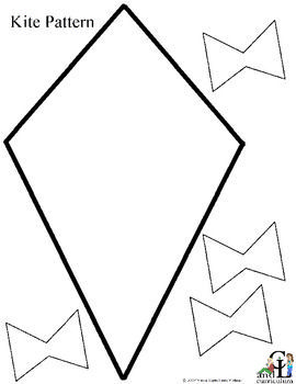 Δωρεάν Pattern Kite- great for spring poetry, contractions or dictionary skills