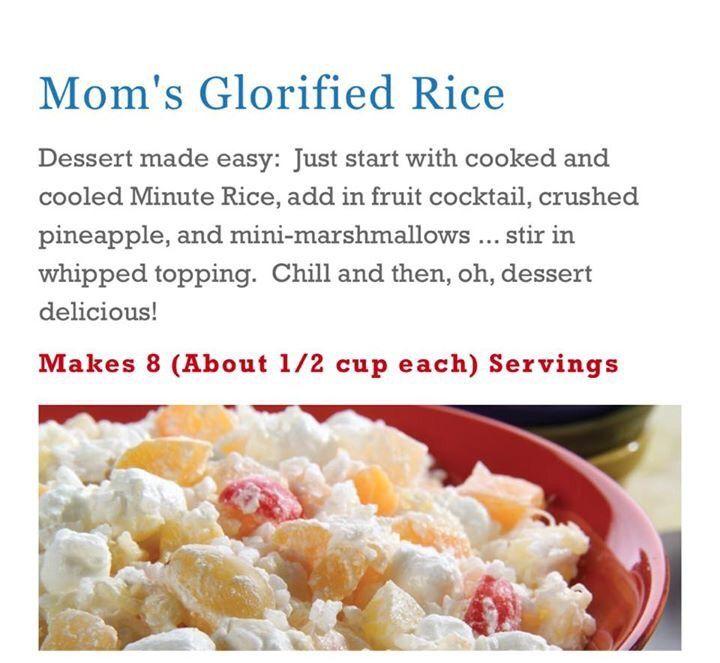 Glorified Rice | Glorified rice recipe, Easy rice recipes ...