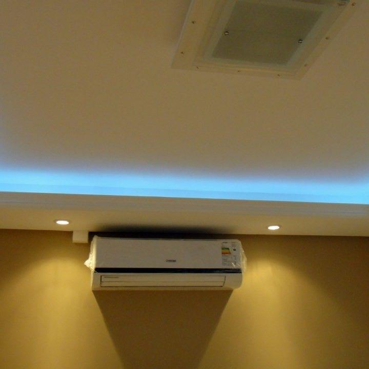 sanca de gesso com instalação de ar condicionado | Gesso | Pinterest