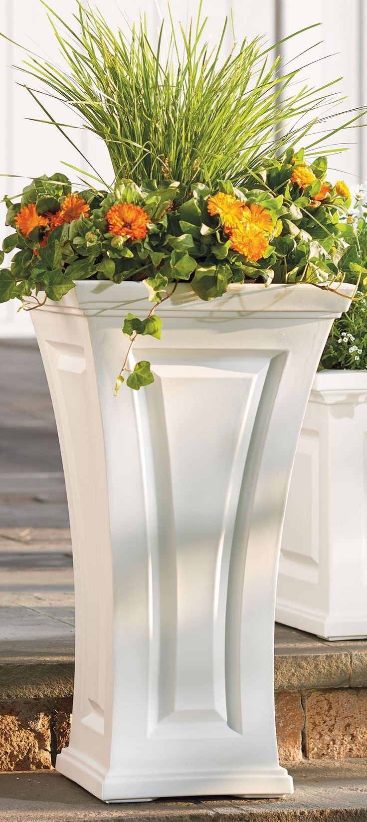 Our Cambridge Tall Planter is so care-free you'll never reach for a paintbrush again.
