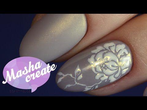 Маникюр гель лаком с втиркой для ногтей. Шелковый маникюр) Зеркальный блеск и нежный дизайн ногтей. - YouTube