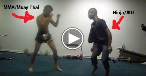 STRENGTH FIGHTER™: MMA vs Ninjutsu street fight