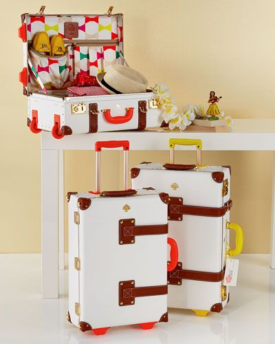 So cute, but if you are flying, I wouldn't bring it along as it attracts attention from thieves. Kate Spade Steamline Luggage - Things We Love Carry-On & Stowaway Luggage. If only in my dreams!