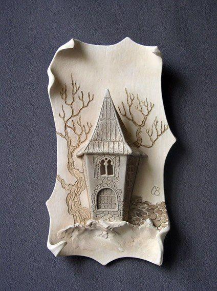 """настенная картина материал: керамика (фаянс) """"башня"""""""