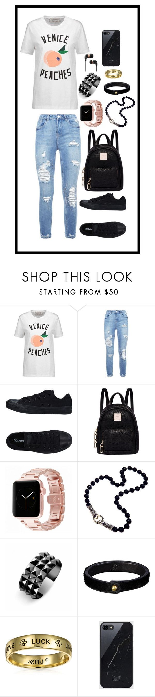 """Untitled 242"" by ahmady ❤ liked on Polyvore featuring Être Cécile, Converse, Fiorelli, Waterford, Bling Jewelry and Sefton"