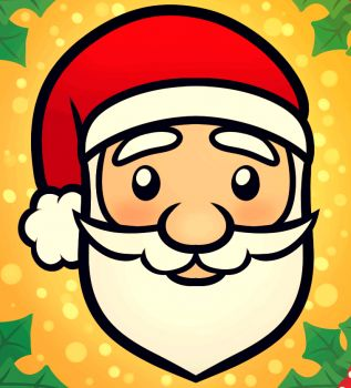 How to Draw a Santa Face For Kids, Step by Step, Christmas Stuff, Seasonal, FREE Online Drawing Tutorial, Added by Dawn, December 11, 2012, 7:50:01 am