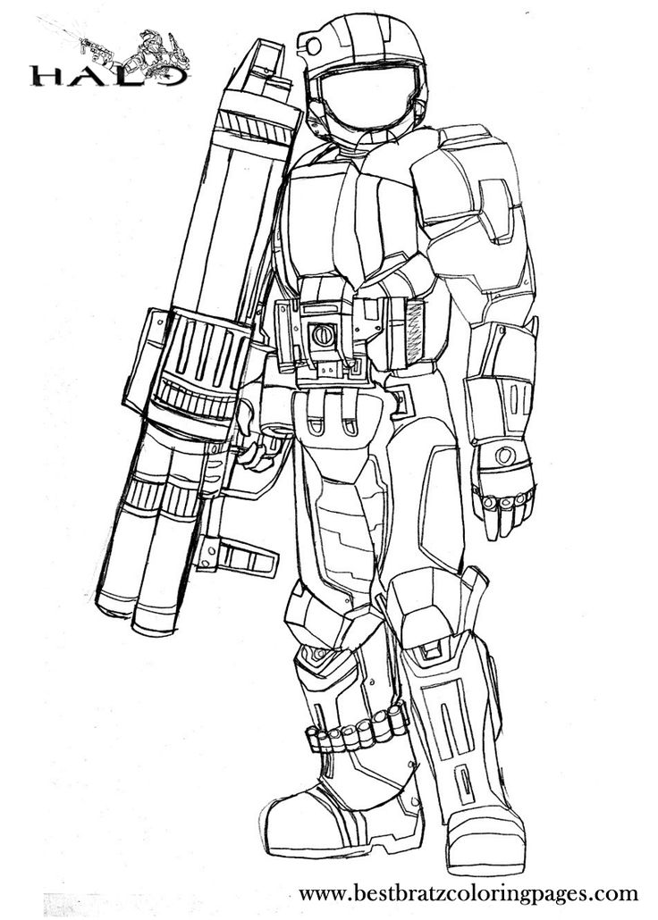 9 Best Halo 5 4 3 Reach Coloring Pages Images On Pinterest Halo