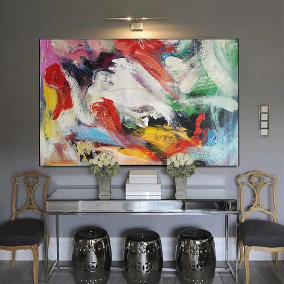 Big Paintings For Sale Wall Painting Contemporary Art For Etsy In 2020 Painting Contemporary Art For Sale Colorful Abstract Painting