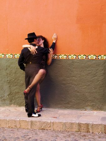 Tango Dancers in Streets of San Miguel De Allende, Mexico