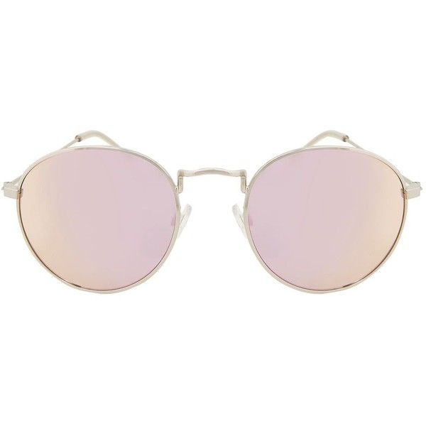 Topshop Metro Metal Revo Sunglasses ($18) ❤ liked on Polyvore featuring accessories, eyewear, sunglasses, lilac, topshop sunglasses, metal glasses and metal sunglasses