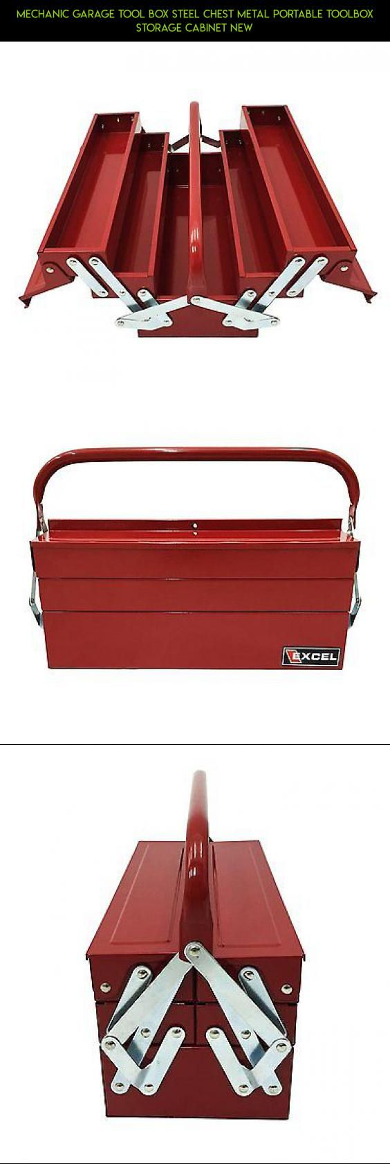 Mechanic Garage Tool Box Steel Chest Metal Portable Toolbox Storage Cabinet New #plans #storage #products #kit #drone #fpv #gadgets #racing #parts #technology #camera #garage #shopping #tech